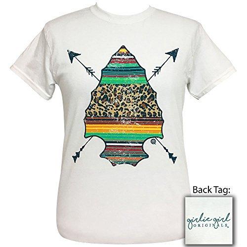 Girlie Girls Serape Arrowhead Preppy Short Sleeve T-Shirt Adult (Large) - Arrow Jersey T-shirt