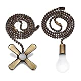 Bronze Light and Fan Cord Ceiling Pull Chain with