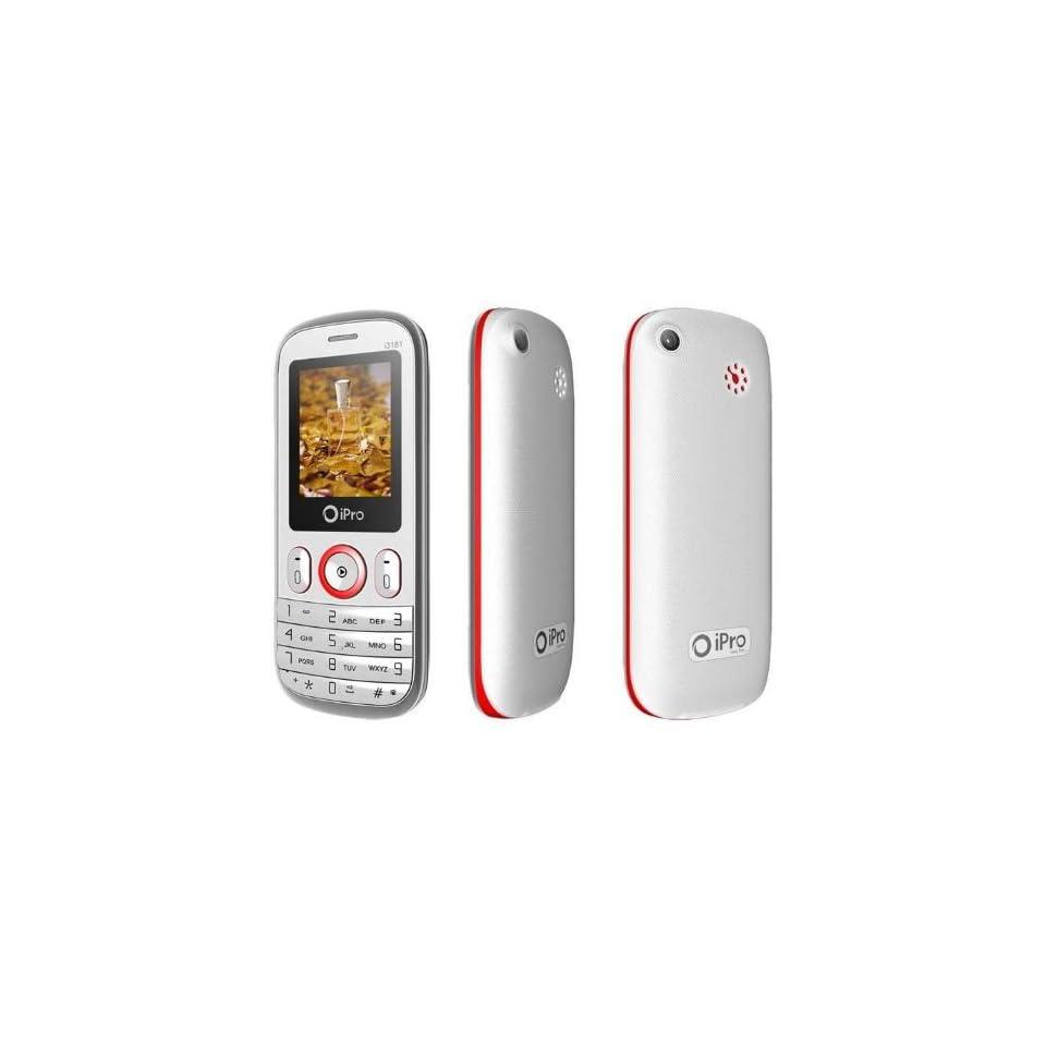 DUAL SIM QUAD BAND  MP4 UNLOCKED GSM CELL PHONE i3181 WHITE