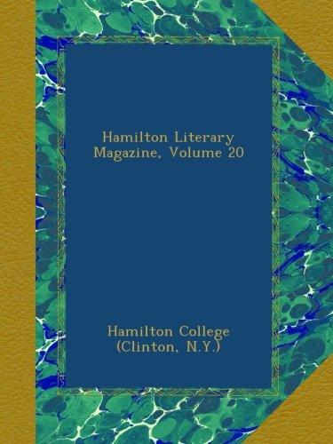 Hamilton Literary Magazine, Volume 20