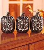 Halloween Decor , Set of 3 Pumpkins