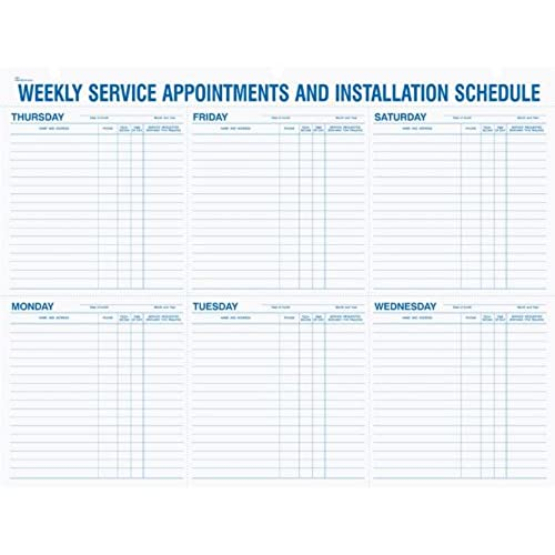 appointment schedule sheets amazon com