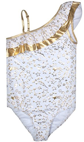 Betsey Johnson Girls 1-Piece Swimsuit, Gold Star, Size 7/8' from Betsey Johnson