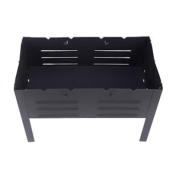 WAVENI O y Estufa casera del BBQ Parrilla Que acampa Estufa Plegable portátil del Acero Inoxidable del carbón de leña del Engrosamiento (Size : L): ...