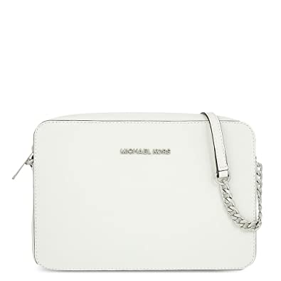 196a475efed8f8 MICHAEL by Michael Kors Jet Set Travel Optic White Large Crossbody one size Optic  White