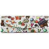 """Jansport """"Digital Burrito"""" Pouch Bag Zipper Electronics Pencil Case Authentic - Multi Stickers"""