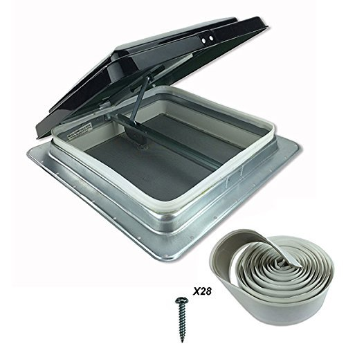 (HENG'S 14 RV CAMPER TRAILER UNIVERSAL SMOKE COLOR CARGO ROOF VENT 74111- NO GARNISH RING INCLUDED by Heng's)