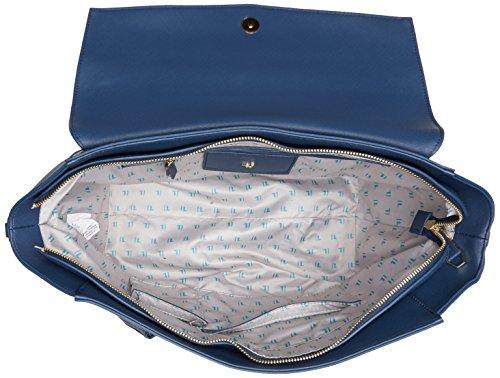 Trussardi Jeans 75b00014-1y090122, Borsa a Mano Donna, 50x39x17 cm (W x H x L) Blu