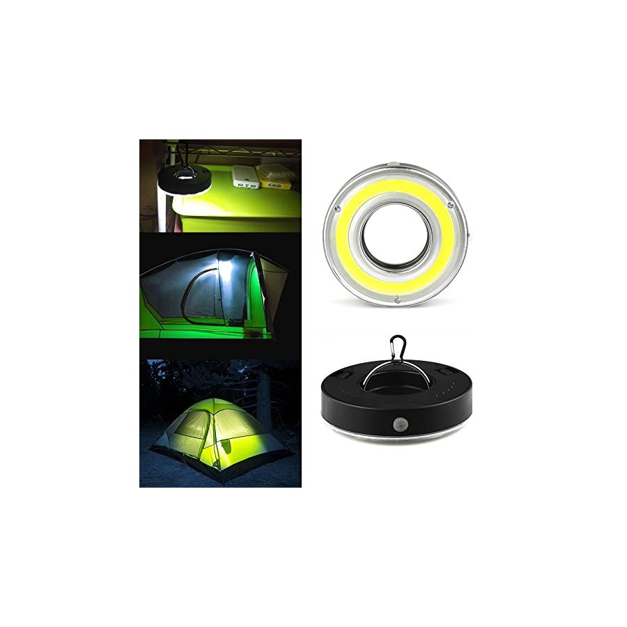 Portable Camping Tent Light IRuiYinGo Super Bright Emergency COB Light for Hiking,Camping,Backpacking, Emergencies Outages (Battery Note Included)