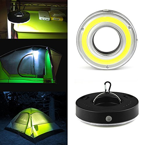 Mini COB Emergency Camping Light, IRuiYinGo Super Bright COB Light for Hiking,Camping,Backpacking, Emergencies Outages (Battery Note Included)