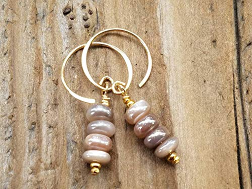 Mystic Moonstone and Gold Vermeil Earrings
