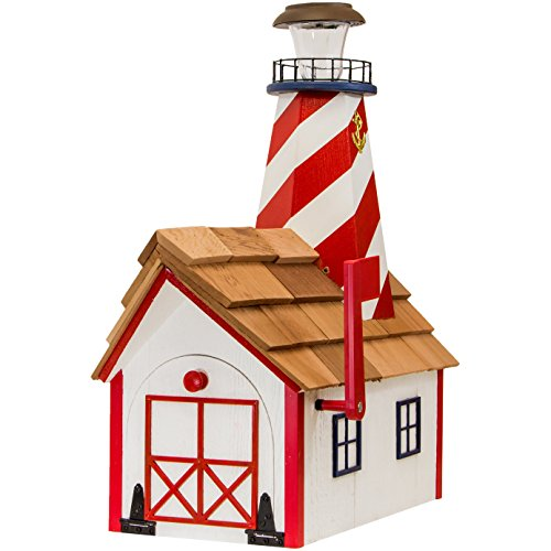 Patriotic Lighthouse Mailbox