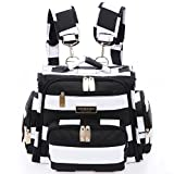 4 Style In 1 Fully Padded Convertible Diaper Bag / Backpack Set with 18 Pockets - Secure Insulated Zipper Pockets, Large Changing Pad, bottle cooler / warmer, Shoulder / Backpack / Stroller Straps