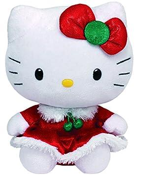 Ty Hello Kitty - Peluche con vestido de Navidad, 15 cm, color rojo 41014TY
