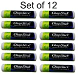ChapStick Moisturizer Green Apple, SPF 12, 0.15-Ounce (Pack of 12) For Sale