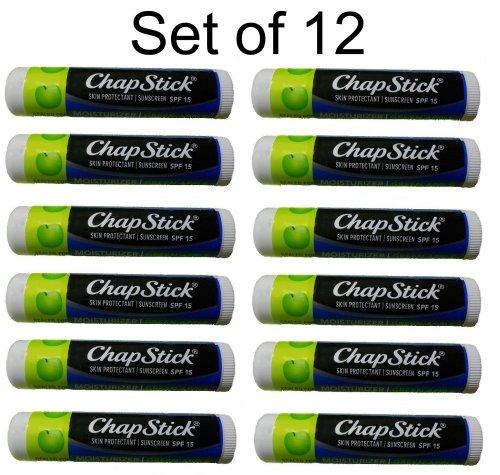 ChapStick Moisturizer Green Apple, SPF 12, 0.15-Ounce