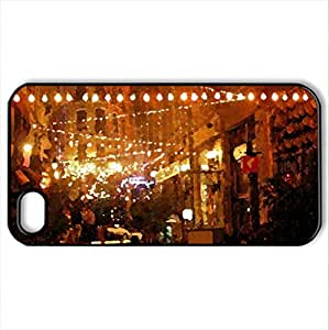 Spot Lights - Case Cover for iPhone 4 and 4s (Watercolor style, Black)