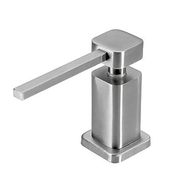 Cuadrado Dispensador de jabón es acero inoxidable 304, Fregadero de cocina con dispensador de lavavajillas y de jabón Aumentar: Amazon.es: Hogar