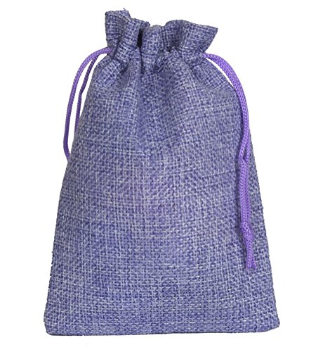 Wahdawn Purple Washable Empty Sachet Sack Drawstring Gift Bags 4x6 (20) Chips String