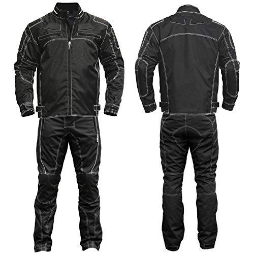 German Wear 2-teiler Motorradkombi Cordura Textilien Motorradjacke & Motorradhose Schwarz