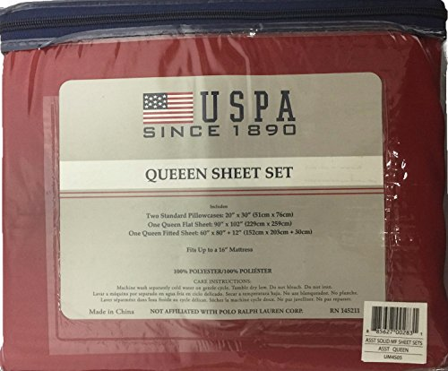 Solid Sheet SetredBuy Online Queen In KsaProducts Uspa f76ygb