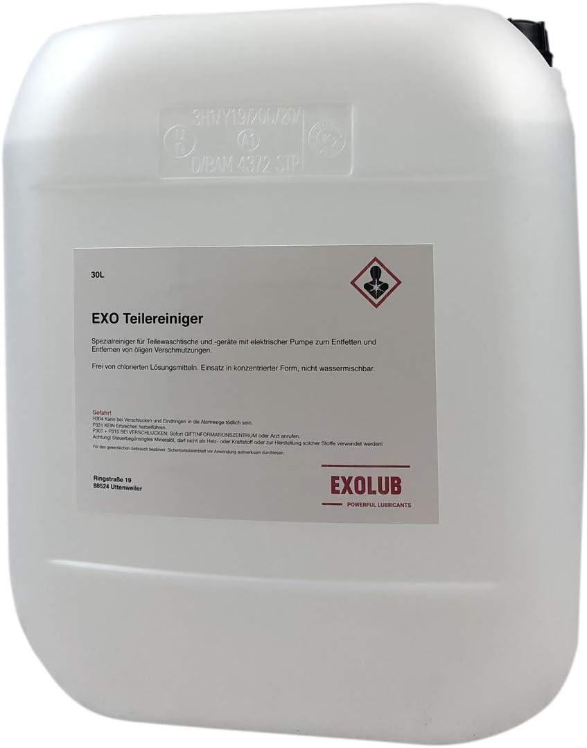 Exolub 30 Liter Teilereiniger Für Waschtische Reiniger Für Teilewaschgeräte Geeignet Für Elektrische Pumpen Entfetter Maschinenreiniger Auto