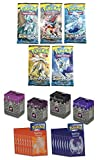Pokemon GX Sun & Moon 4 Booster Pack Free 50 Ultra Pro Pro-Slayer Sleeves (Black Cherry, Black, Hot Pink or Purple)