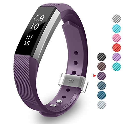 Fitbit Alta Band with Metal Clasp, Greeninsync Fitbit Alta Replacement Bands Small Alta Bracelet Strap for Fitbit - Bands A-z Metal