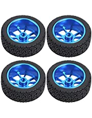 idalinya Neumáticos De Goma Llantas En Forma De 7 Ruedas Ruedas RC con Llantas De Metal Azul para WL A959 A979 A969 1/18 Modelo De Automóvil