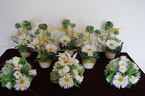 8 Juego mesa decoración mesa decoración boda Bautismo Comunión ...