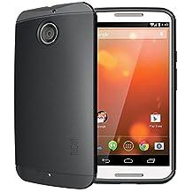 TUDIA Ultra Slim LITE TPU Bumper Protective Case for Motorola Moto X (2nd Gen 2014 Release ONLY) (Black)