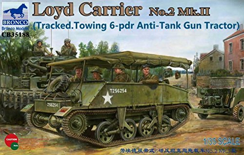 Tracked Tractor (Bronco Models Loyd Carrier No.2 Mk.II Tracked Towing 6-PDR Anti-Tank Gun Tractor (1/35 Scale))