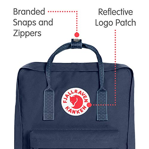 Fjallraven Men's Kanken Backpack, Royal Blue/Pinstripe, One Size by Fjallraven (Image #2)