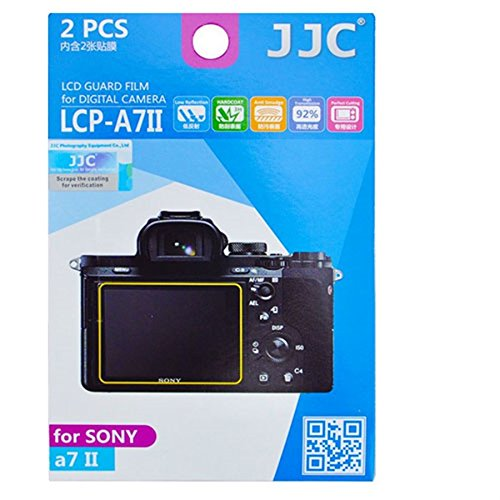 JJC LCP-A7II 2 Kits Guard Film Digital Camera LCD Display Screen Protector Cover for Sony A7II Camera