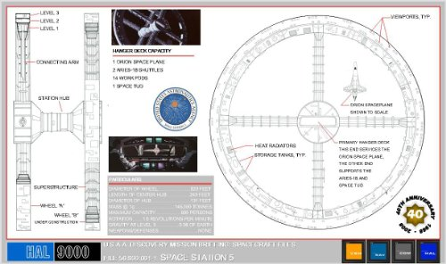 2001 a space odyssey 40th anniversary blueprints buy for Buy blueprints online