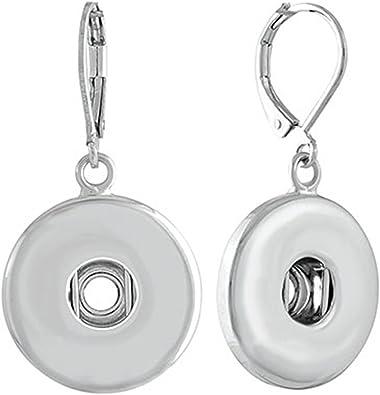 Mini Hanging Snap Earrings