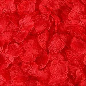 Hoxekle 1000pcs Rose Petals Wedding Flower Centerpieces Artificial Flower Table Confetti Scatters Flower Girl Basket Filler Aisle Decor Favor Multicolor 77