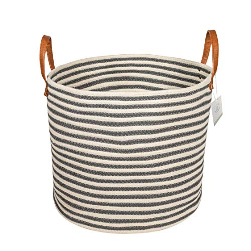 Large Cotton Rope Storage Basket with Handle - 14.5