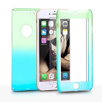 fa9333c3e8 【yoshiya】 iPhone 6 / 6s フルカバーケース グラデーション ブルー イエロー 360°〈
