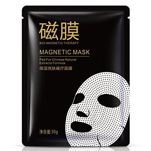 10 PC Mineral Magnetic Face Mask Deep Skin Cleanser,Pore Red