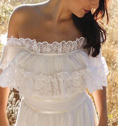 Boho Wedding Dress Under 200: Veilace Women's Bohemian Wedding Dress Off The Shoulder