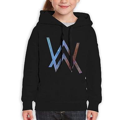 bed4de874b4 Ronald M. Richardson Teens Kids Autumn Fashion Cool Alan Walker Logo Hooded  Sweater Black L