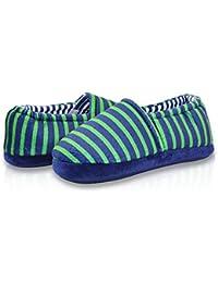 Boy's Cute Soft Cotton Stripe Slippers