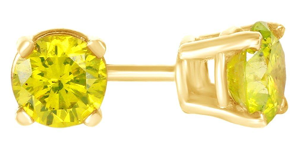 Diamant Solitaire Ohrstecker in 14 Karat 585 Weißszlig;Gold, 0,5 Karat, Gelb 14 Karat (585) GelbGold