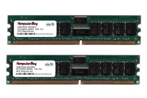 - KOMPUTERBAY 4GB 2x 2GB DDR 400 MHz PC3200 4 GB DIMM CL3 184pin ECC REGISTERED for servers not desktops