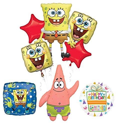 Spongebob Squarepants Birthday Party Supplies and Splash Bash Balloon Bouquet Decorations ()