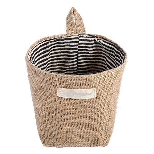 Mini Eco-friendly Cotton Storage Knitting Basket for Organizing Home Gadget Toy Nursery Baby Clothes (marine streifen)