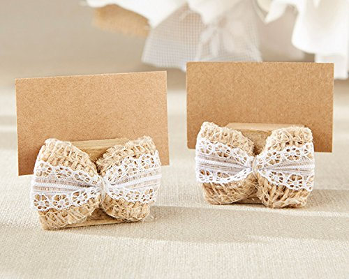 144 Burlap Bow Place Card Holders by Kate Aspen