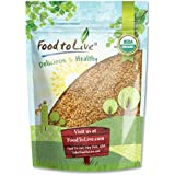 Food To Live Certified Organic Whole Golden Flaxseed (Raw, Non-GMO, Kosher, Bulk Flax Seed) (1 Pound)