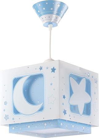 Oferta amazon: Dalber Moon Light Lámpara de Techo Infantil Luna y Estrellas MoonLight Azul, 60 W           [Clase de eficiencia energética A]